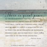 There is great peace...