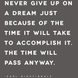 Time will pass anyway...