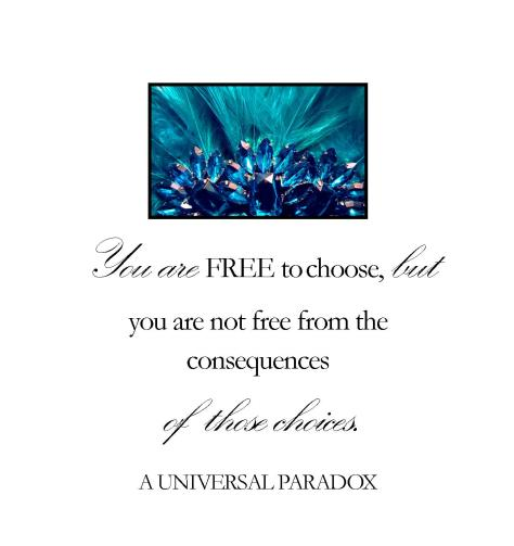 You are free to choose...